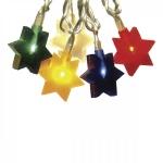 Гирлянда 4м разноцветная Звездочки кабель прозрачный 1,5м 20 ламп indoor